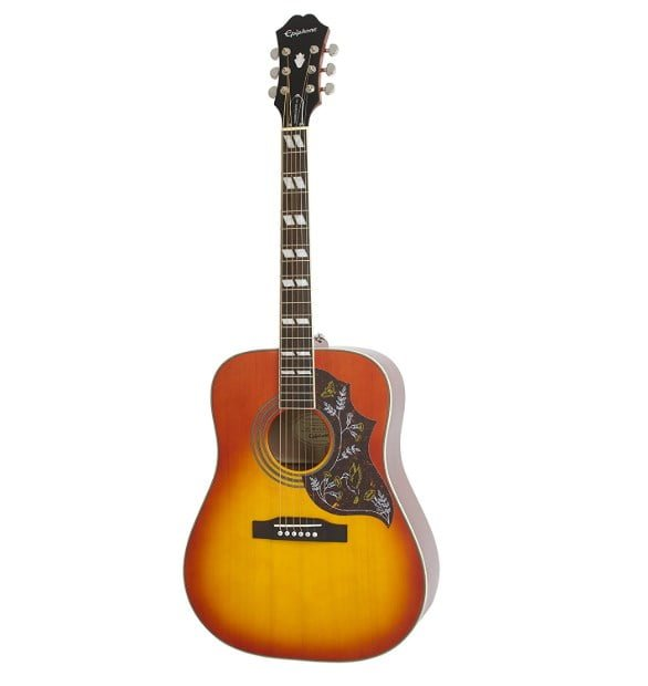 epiphone hummingbird pro review